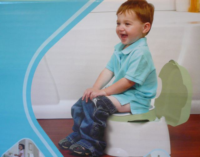 Kid On Side Of Potty Chair Box Way Too Excited To Be